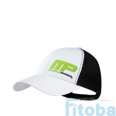 MusclePharm Sportswear Hat Flatbrim Flagship White Black (MPHAT457)